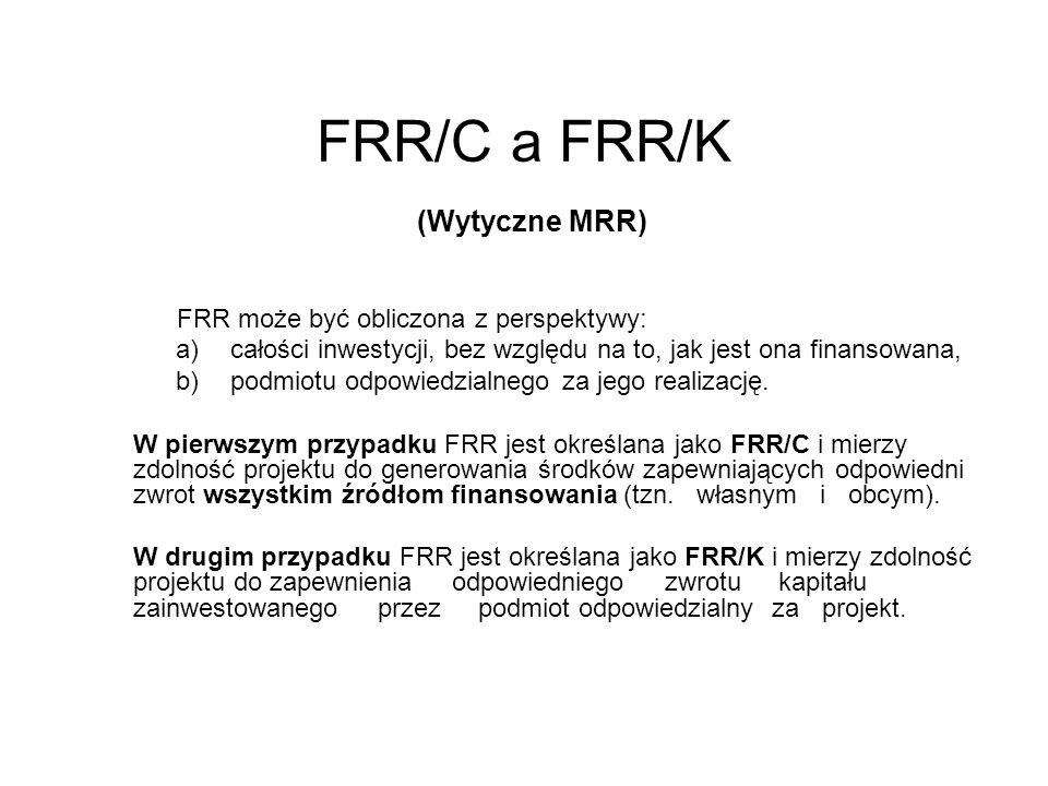 FRR/C a FRR/K (Wytyczne MRR)