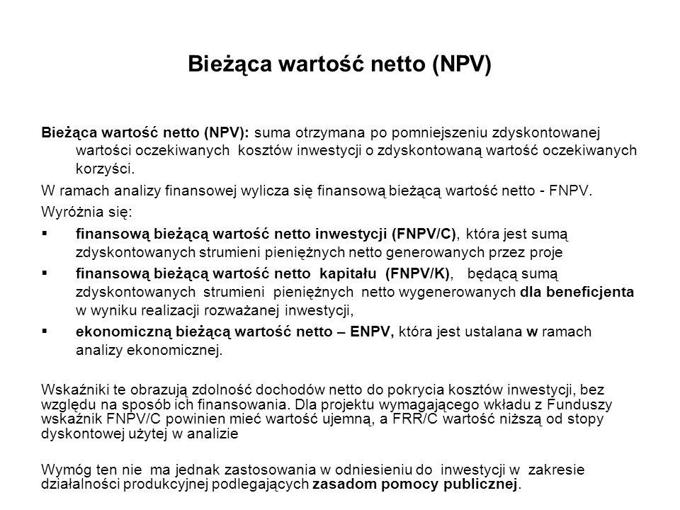 Bieżąca wartość netto (NPV)