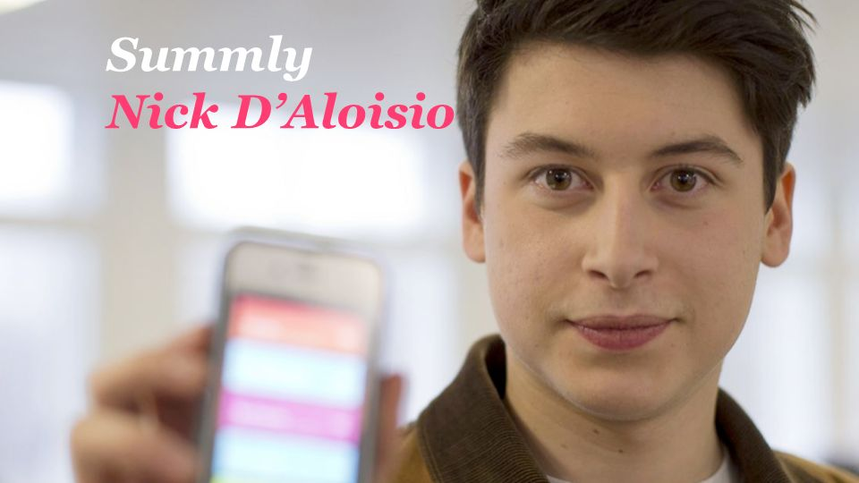 Summly Nick D'Aloisio