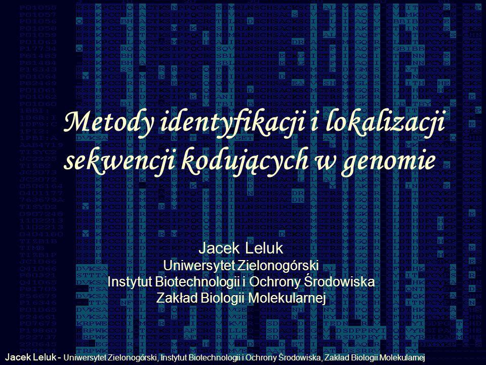 Metody identyfikacji i lokalizacji sekwencji kodujących w genomie