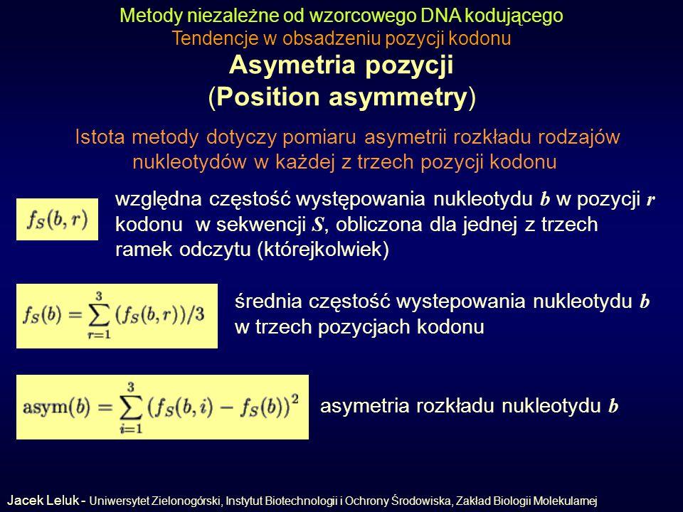 Asymetria pozycji (Position asymmetry)