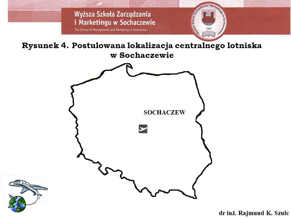 Rysunek 4. Postulowana lokalizacja centralnego lotniska w Sochaczewie