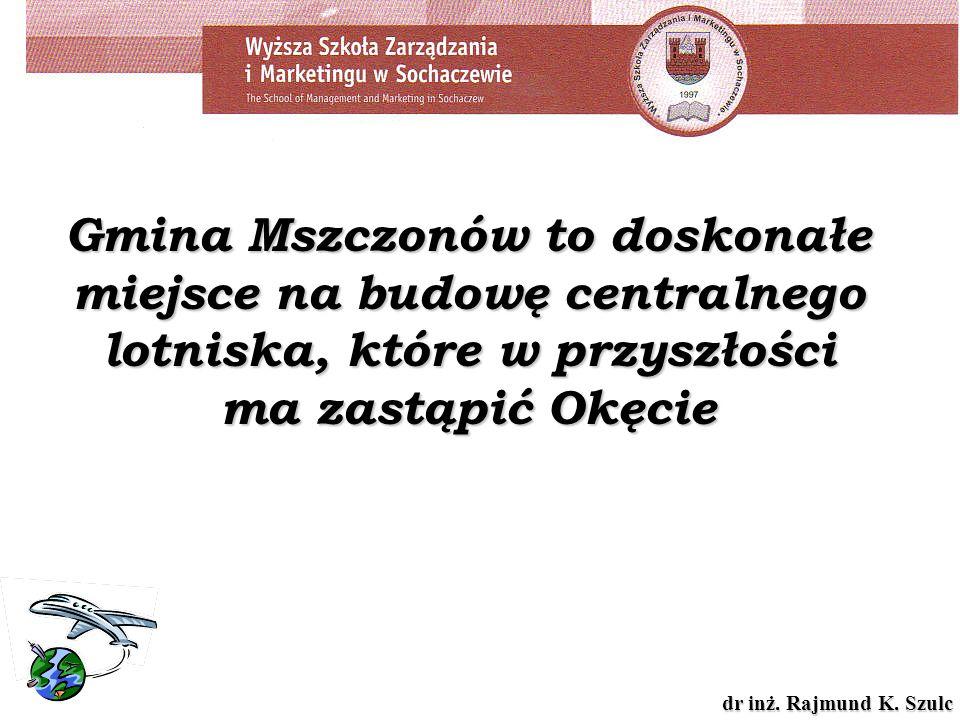 Gmina Mszczonów to doskonałe miejsce na budowę centralnego lotniska, które w przyszłości ma zastąpić Okęcie