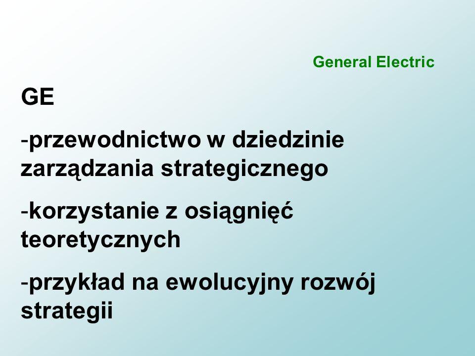 przewodnictwo w dziedzinie zarządzania strategicznego