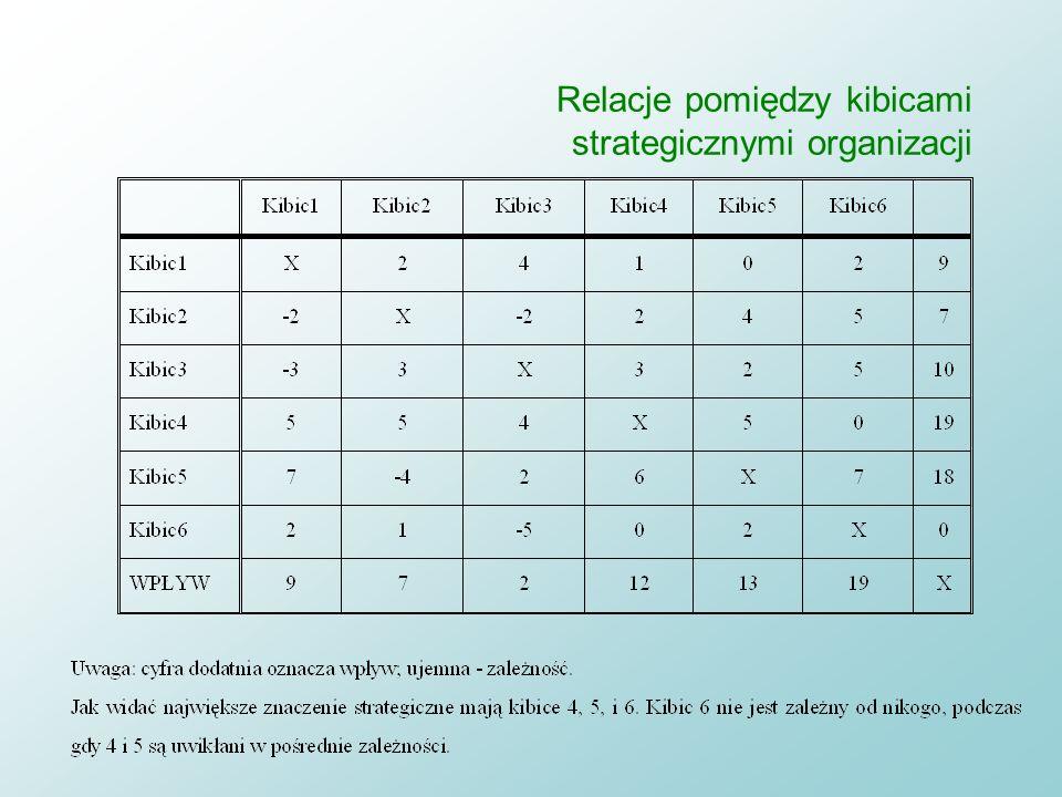 Relacje pomiędzy kibicami strategicznymi organizacji