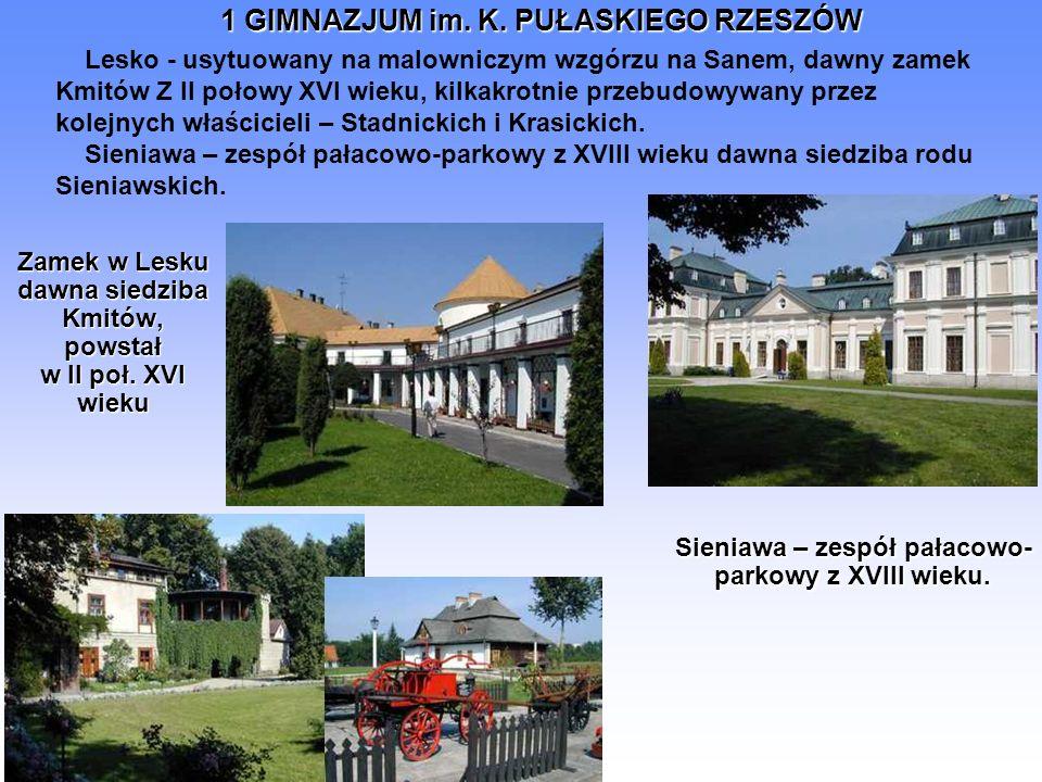 Zamek w Lesku dawna siedziba Kmitów, powstał w II poł. XVI wieku