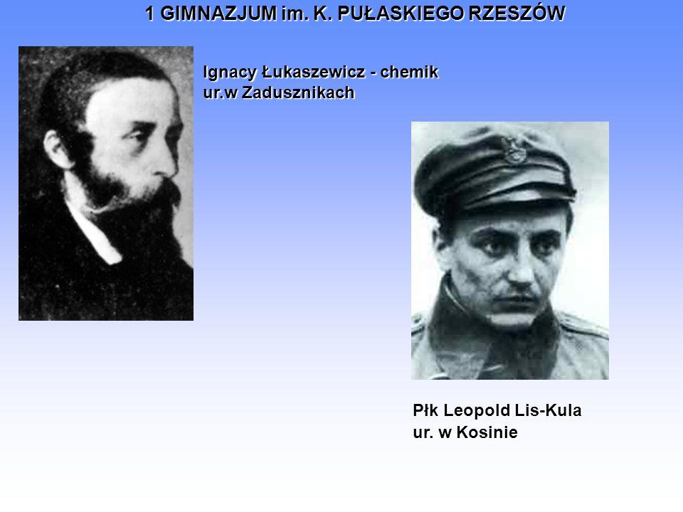 Ignacy Łukaszewicz - chemik ur.w Zadusznikach