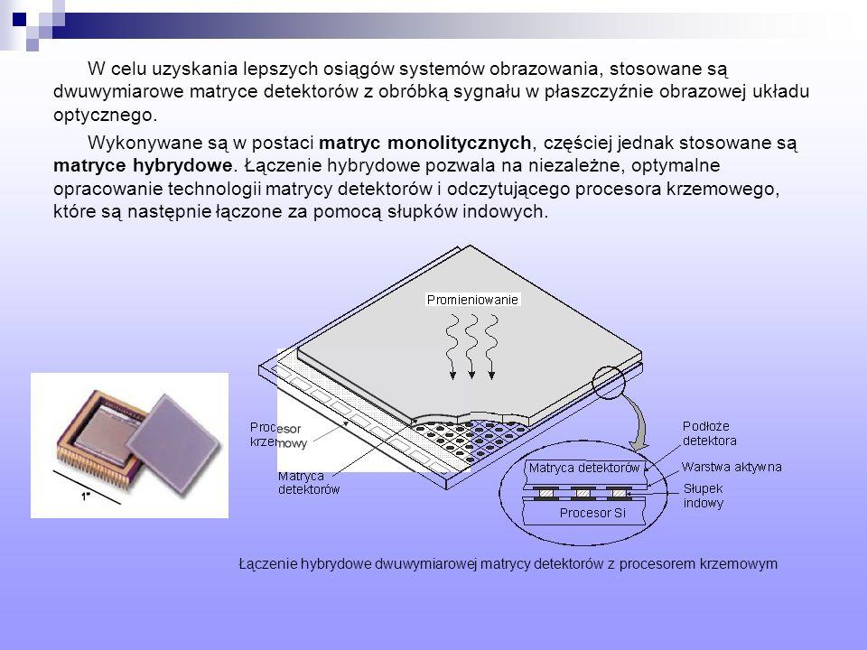 W celu uzyskania lepszych osiągów systemów obrazowania, stosowane są dwuwymiarowe matryce detektorów z obróbką sygnału w płaszczyźnie obrazowej układu optycznego.