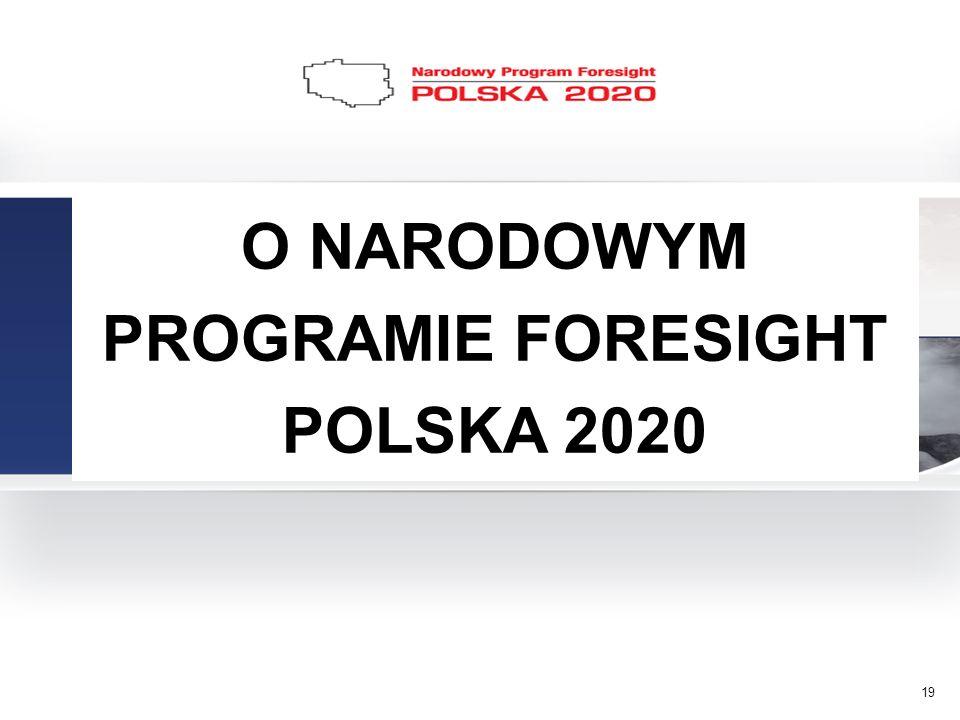 O NARODOWYM PROGRAMIE FORESIGHT POLSKA 2020