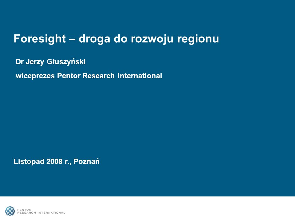 Foresight – droga do rozwoju regionu