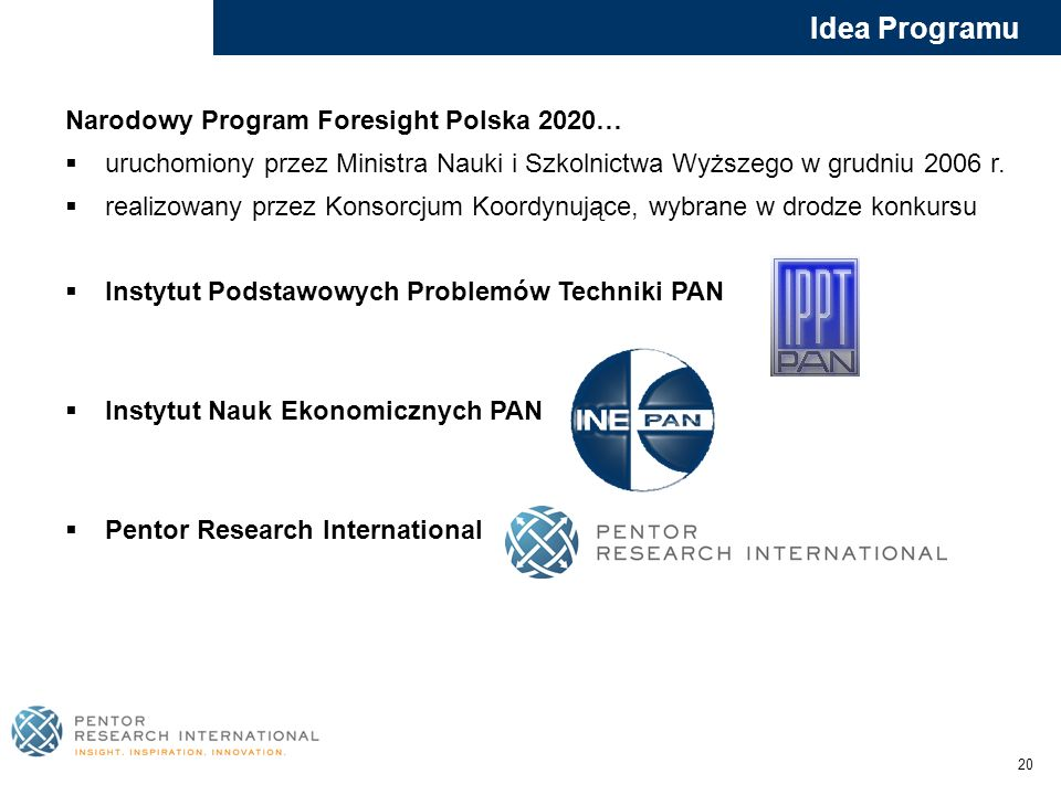 Idea Programu Narodowy Program Foresight Polska 2020…