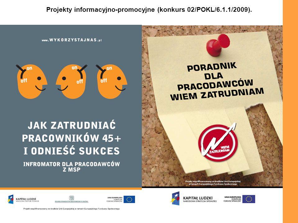 Projekty informacyjno-promocyjne (konkurs 02/POKL/6.1.1/2009).