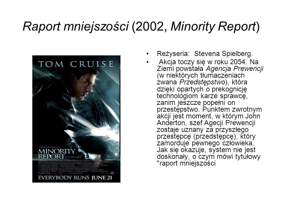 Raport mniejszości (2002, Minority Report)