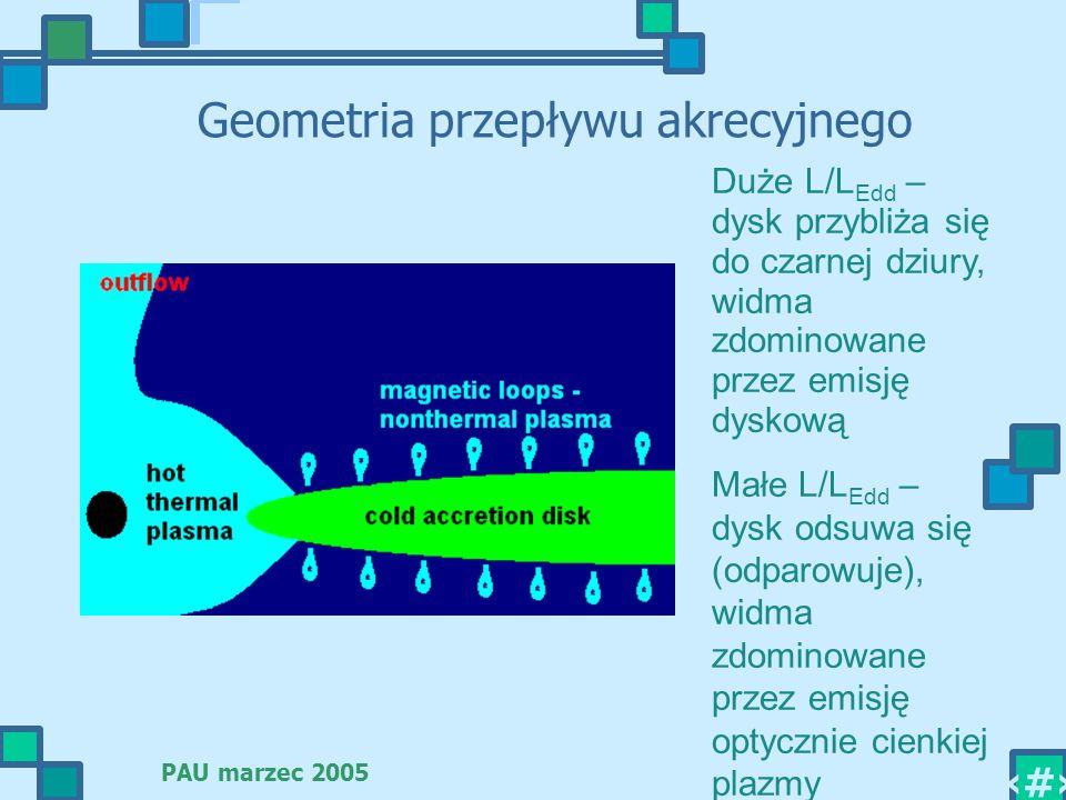 Geometria przepływu akrecyjnego