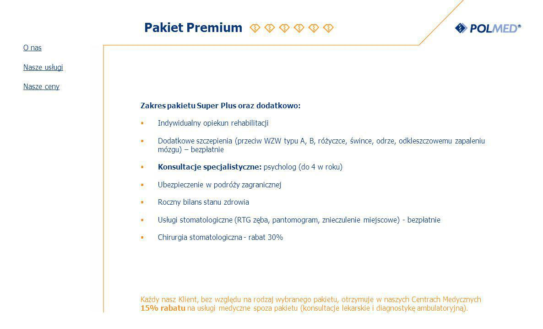 Pakiet Premium O nas Nasze usługi Nasze ceny