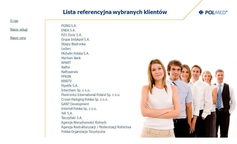 Lista referencyjna wybranych klientów