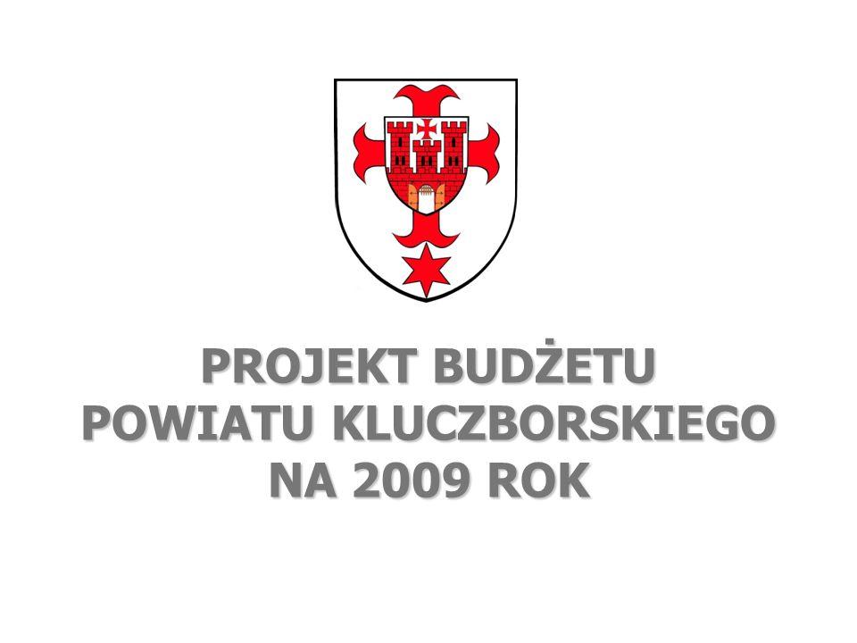 PROJEKT BUDŻETU POWIATU KLUCZBORSKIEGO NA 2009 ROK