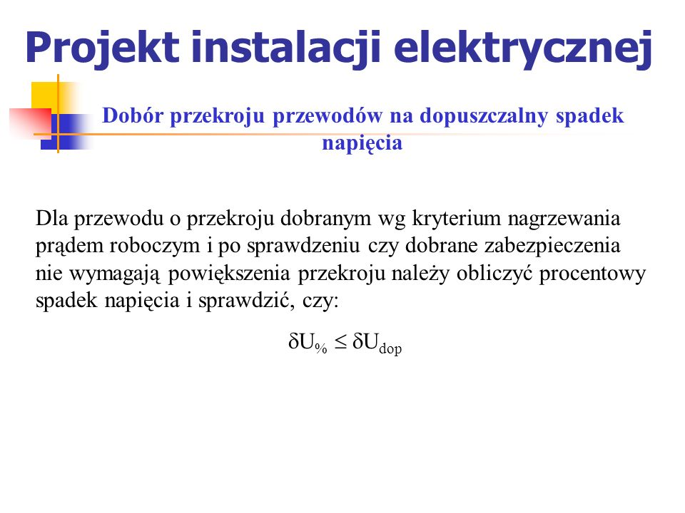 Projekt instalacji elektrycznej