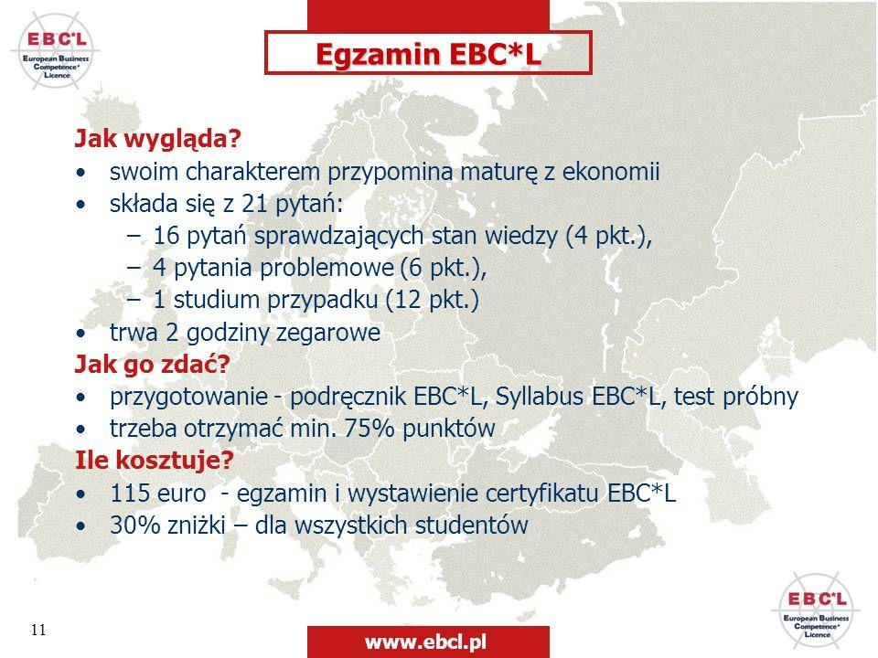 Egzamin EBC*L Jak wygląda