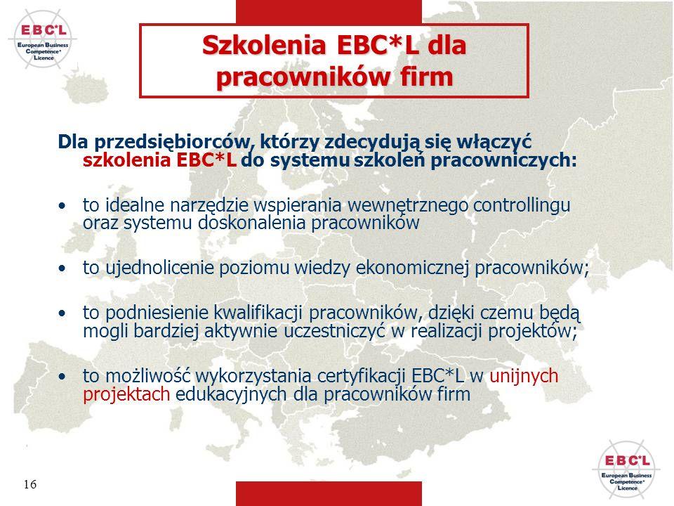 Szkolenia EBC*L dla pracowników firm