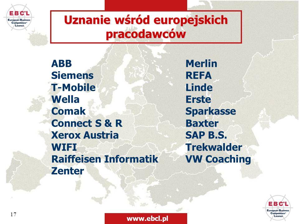 Uznanie wśród europejskich pracodawców