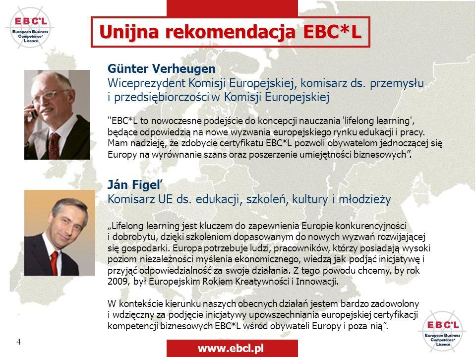 Unijna rekomendacja EBC*L