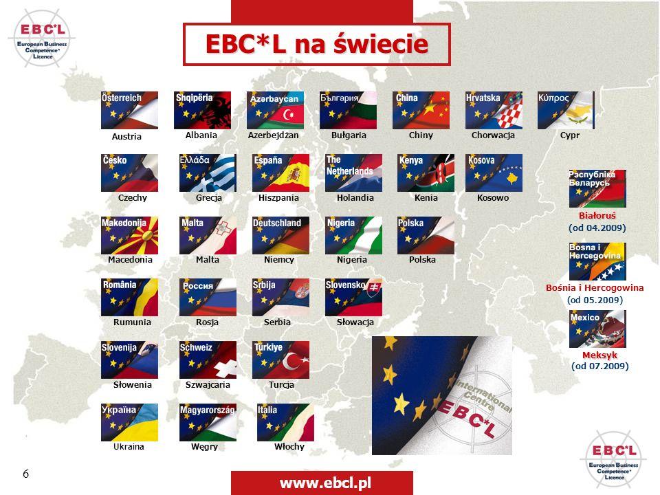 EBC*L na świecie www.ebcl.pl