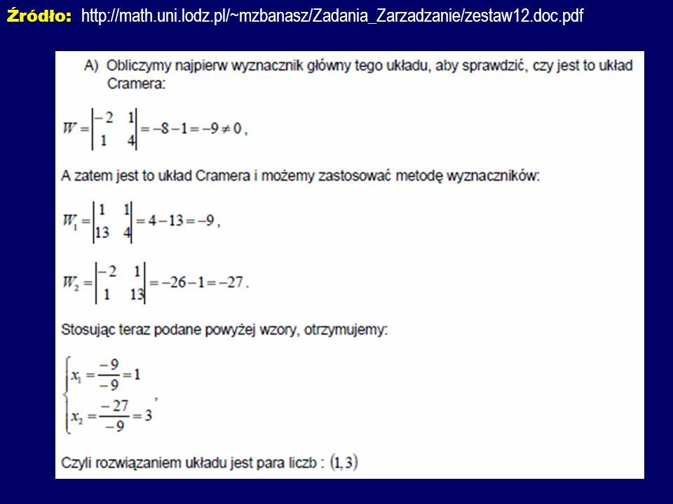 Źródło: http://math. uni. lodz