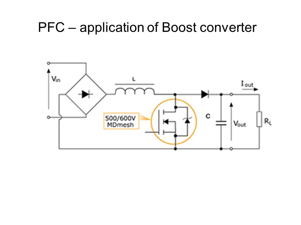 PFC – application of Boost converter