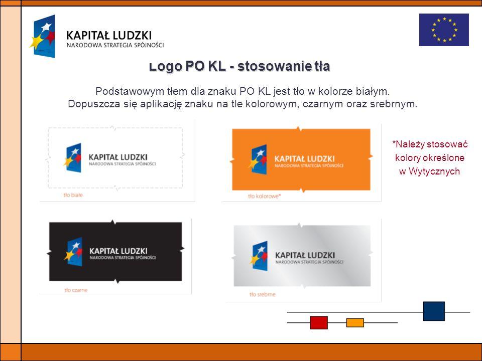 Logo PO KL - stosowanie tła