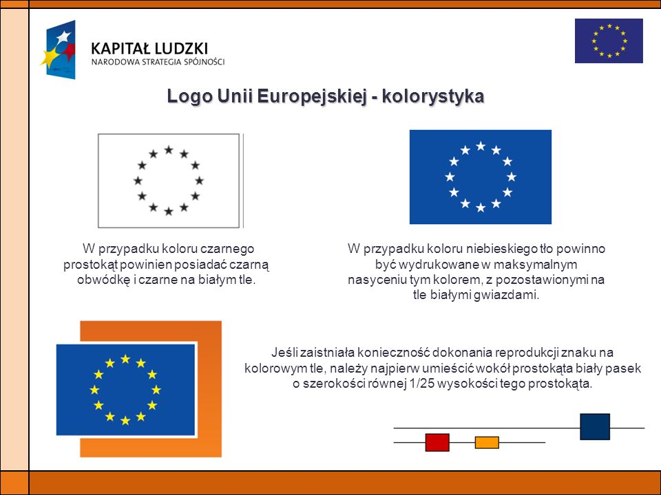 Logo Unii Europejskiej - kolorystyka