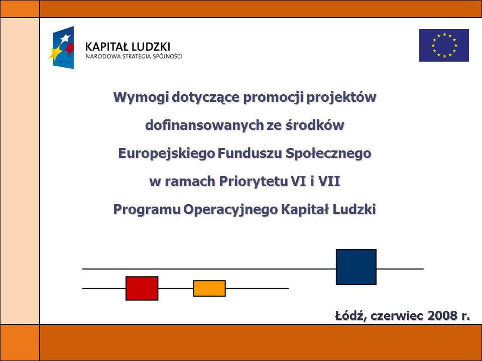 Wymogi dotyczące promocji projektów dofinansowanych ze środków