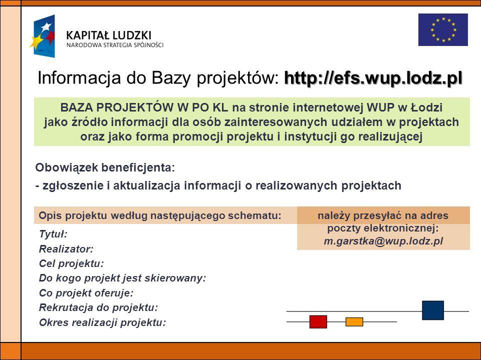 należy przesyłać na adres poczty elektronicznej: m.garstka@wup.lodz.pl