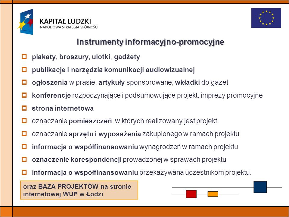 Instrumenty informacyjno-promocyjne