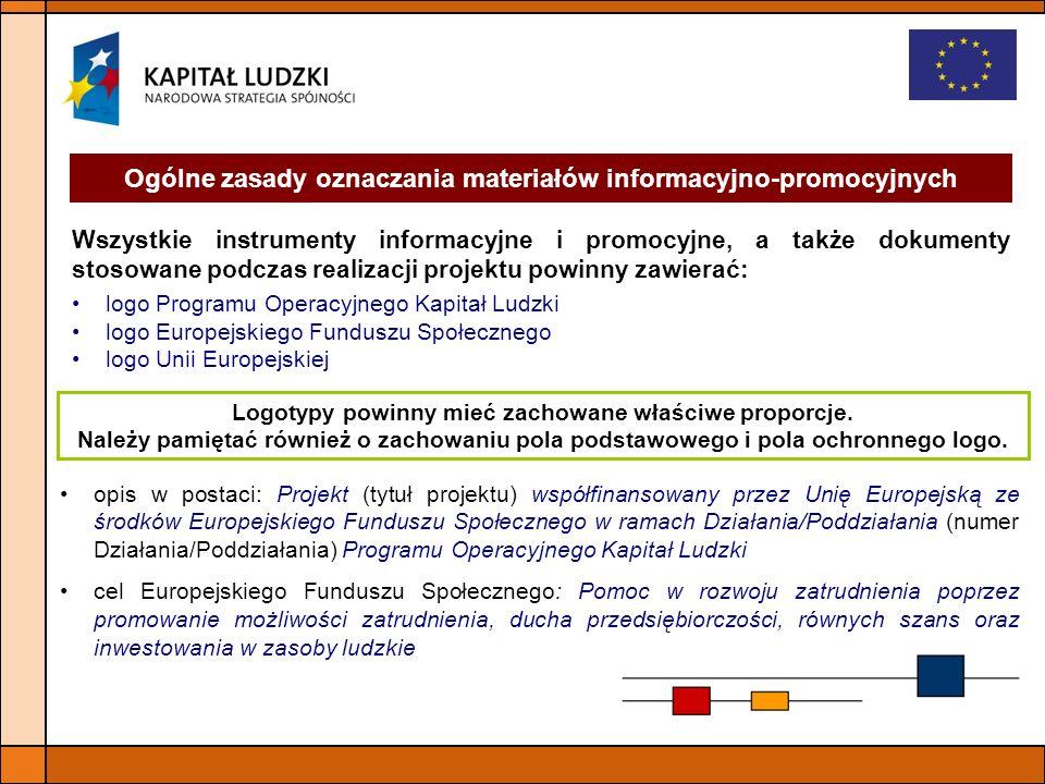 Ogólne zasady oznaczania materiałów informacyjno-promocyjnych