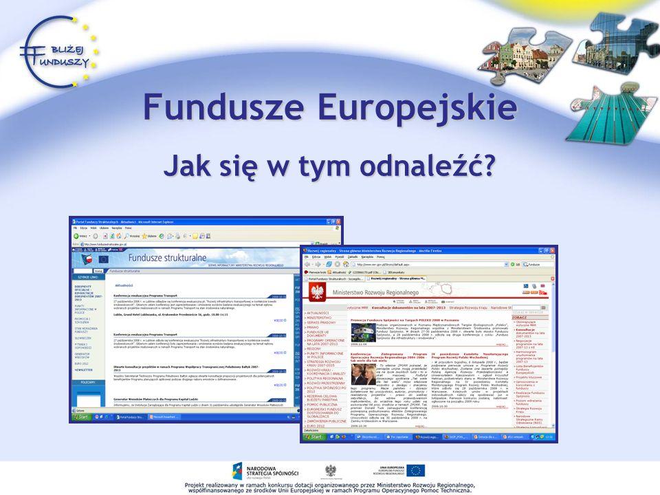 Fundusze Europejskie Jak się w tym odnaleźć