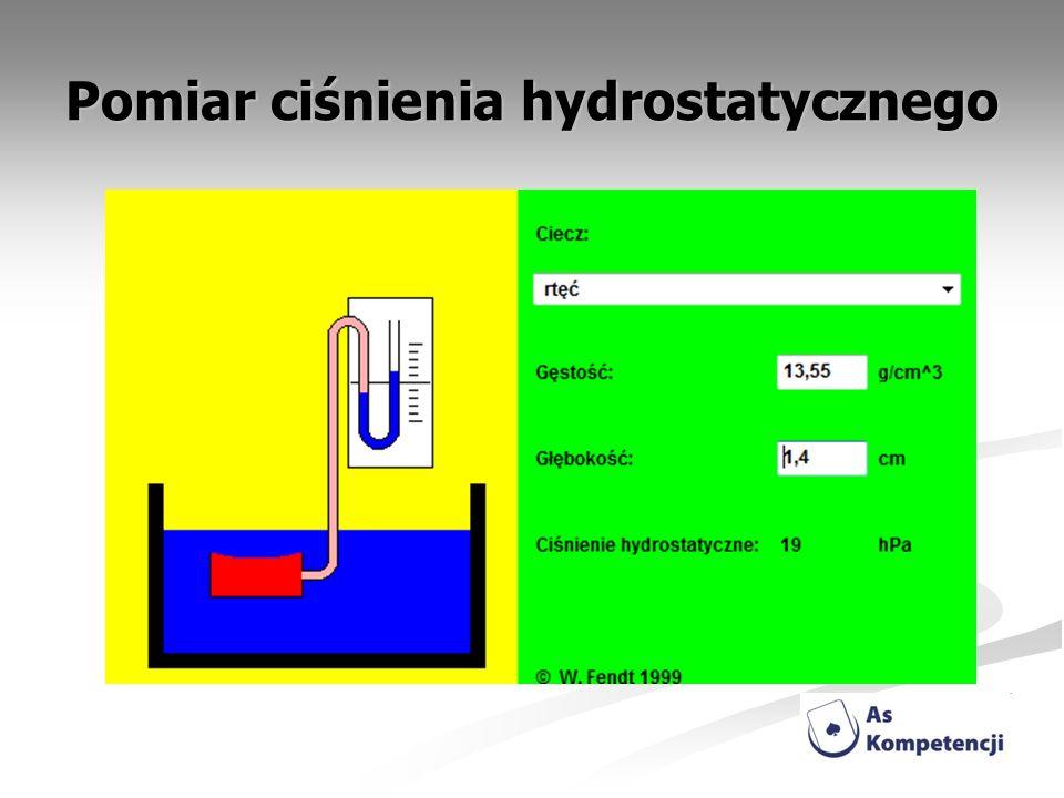Pomiar ciśnienia hydrostatycznego