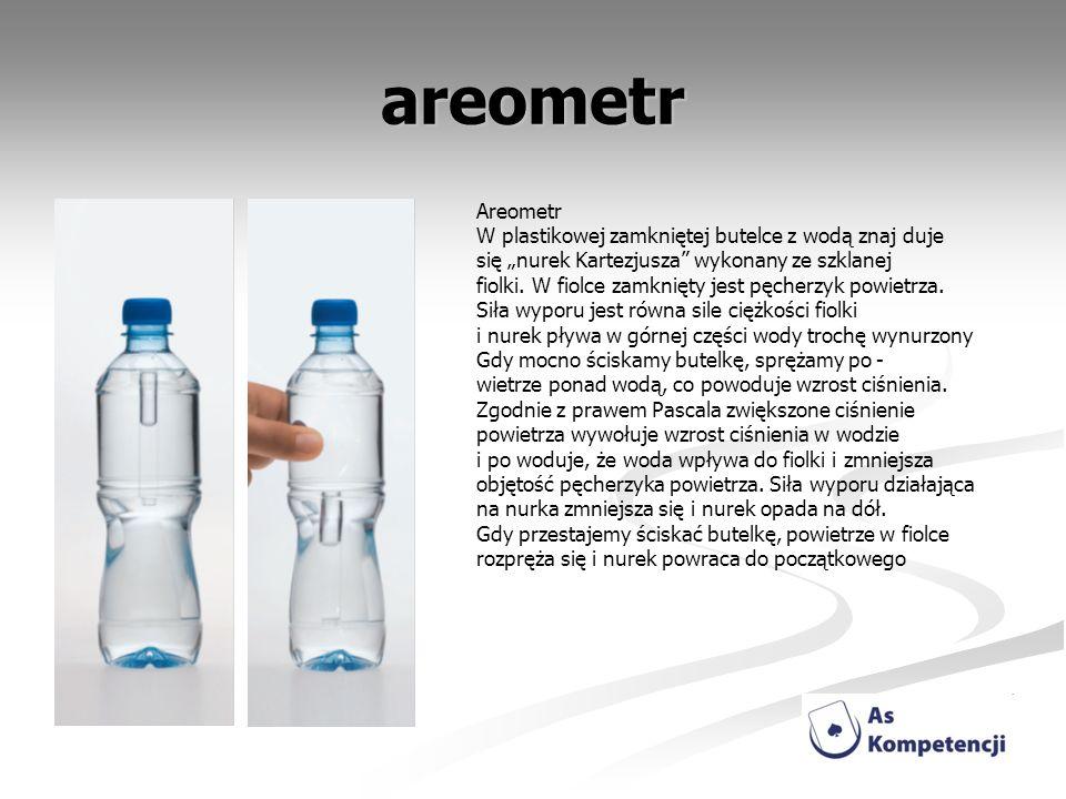 areometr Areometr W plastikowej zamkniętej butelce z wodą znaj duje