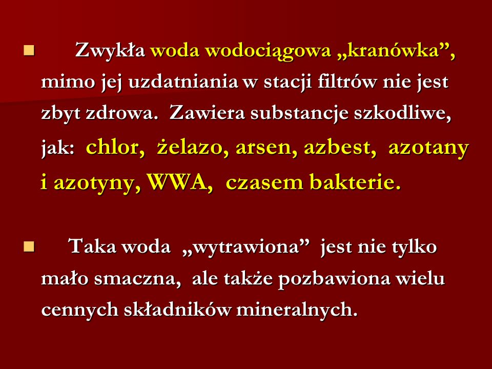 i azotyny, WWA, czasem bakterie.