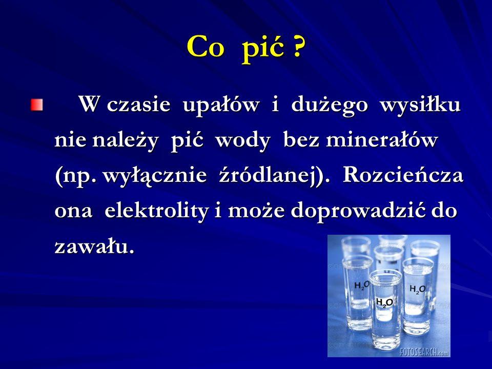 Co pić nie należy pić wody bez minerałów