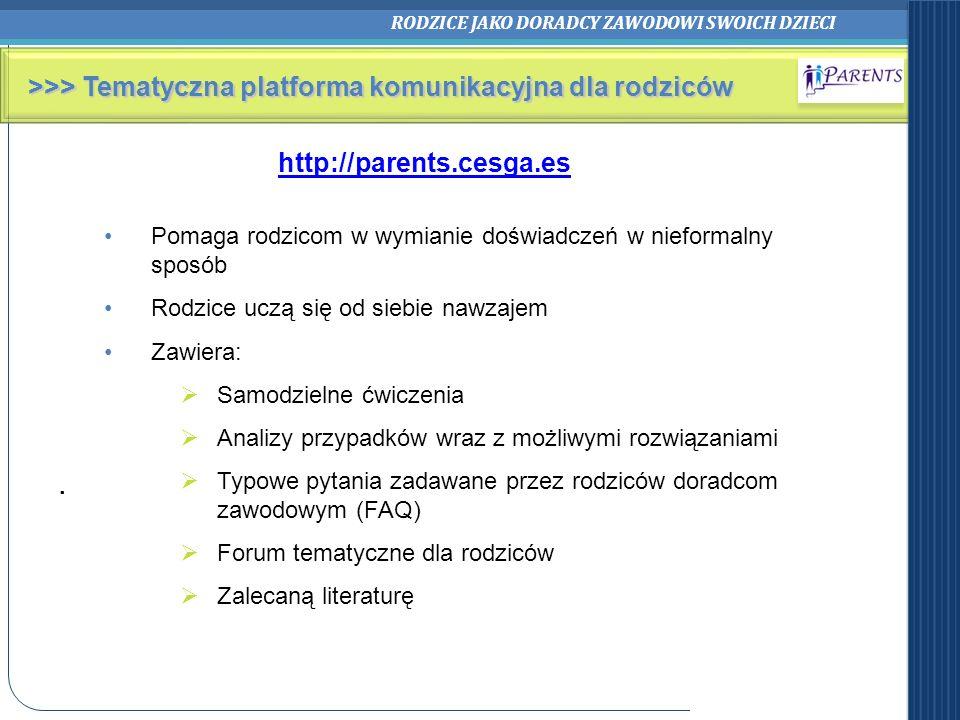 >>> Tematyczna platforma komunikacyjna dla rodziców