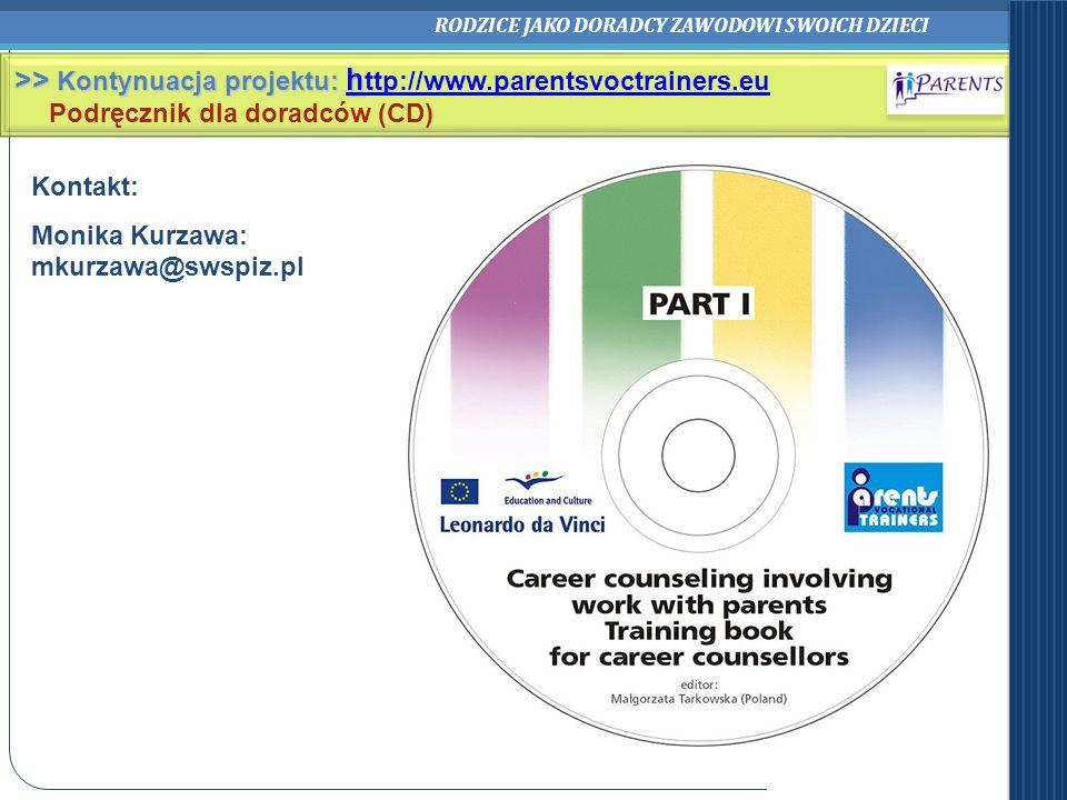 >> Kontynuacja projektu: http://www.parentsvoctrainers.eu
