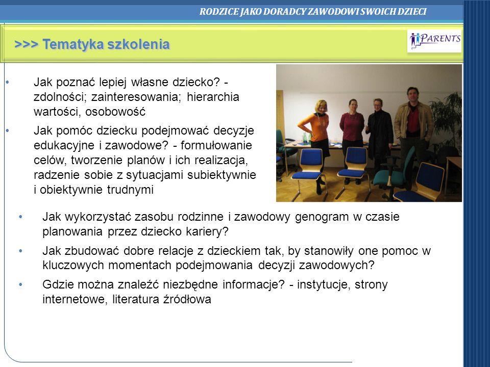 >>> Tematyka szkolenia