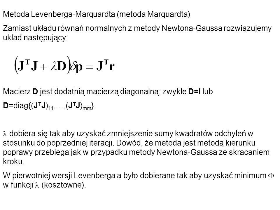 Metoda Levenberga-Marquardta (metoda Marquardta)