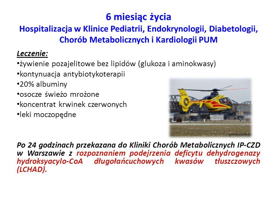 6 miesiąc życia Hospitalizacja w Klinice Pediatrii, Endokrynologii, Diabetologii, Chorób Metabolicznych i Kardiologii PUM