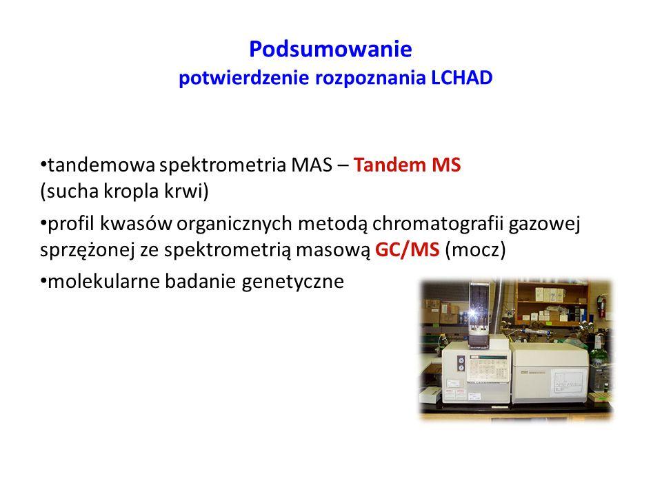 Podsumowanie potwierdzenie rozpoznania LCHAD