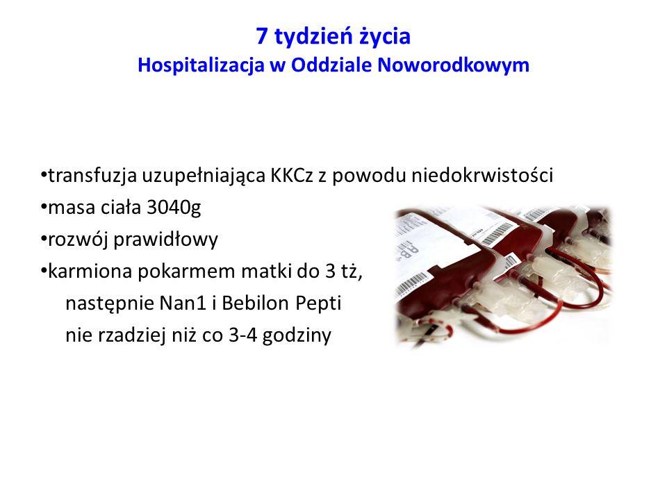 7 tydzień życia Hospitalizacja w Oddziale Noworodkowym