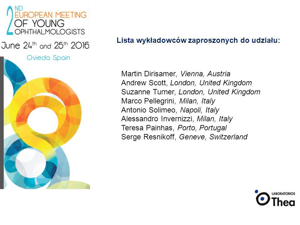 Lista wykładowców zaproszonych do udziału: