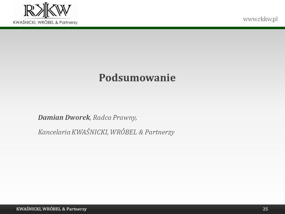 Podsumowanie Damian Dworek, Radca Prawny,