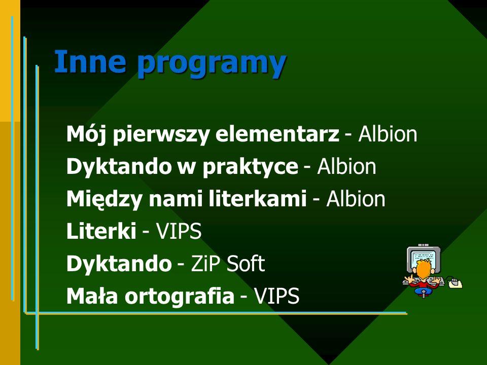 Inne programy Mój pierwszy elementarz - Albion